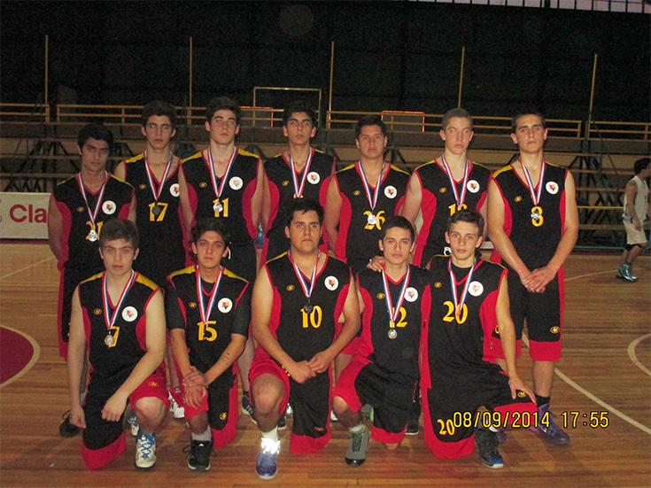 Sub Campeones del Básquetbol Escolar Colegios Particulares