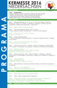 Programa kermesse 2016
